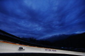 Pilot Alexander Zubkov and Alexey Voevoda of Russia team 1 in action during the Men's TwoMan Bobsleigh on Day 10 of the Sochi 2014 Winter Olympics at...