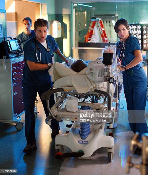 'Pilot' Dr Matthew Proctor Dr C and Dr Zambrano treat a trauma patient on 'Miami Medical' a new drama series premiering Friday April 2 on the CBS...