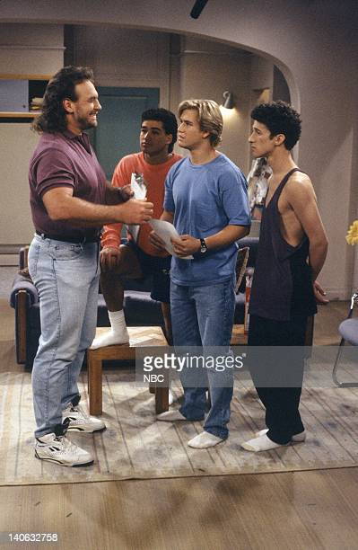 YEARS 'Pilot' Episode 1 AIr Date Pictured Bob Golic as Michael Rogers Mario Lopez as AC Slater MarkPaul Gosselaar as Zack Morris Dustin Diamond as...