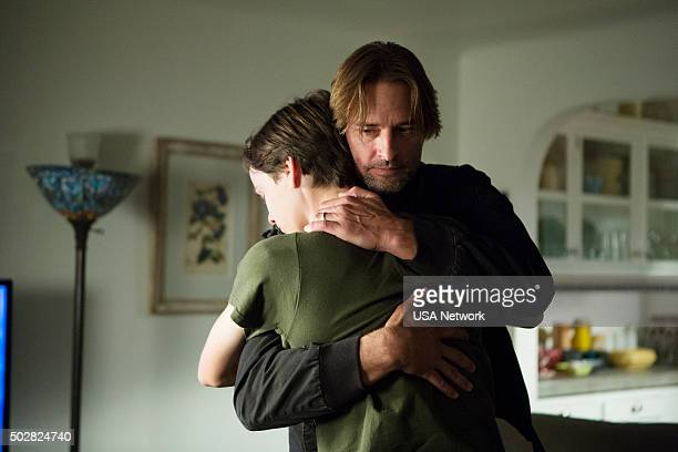 COLONY 'Pilot' Episode 101 Pictured Alex Neustaedter as Bram Bowman Josh Holloway as Will Bowman