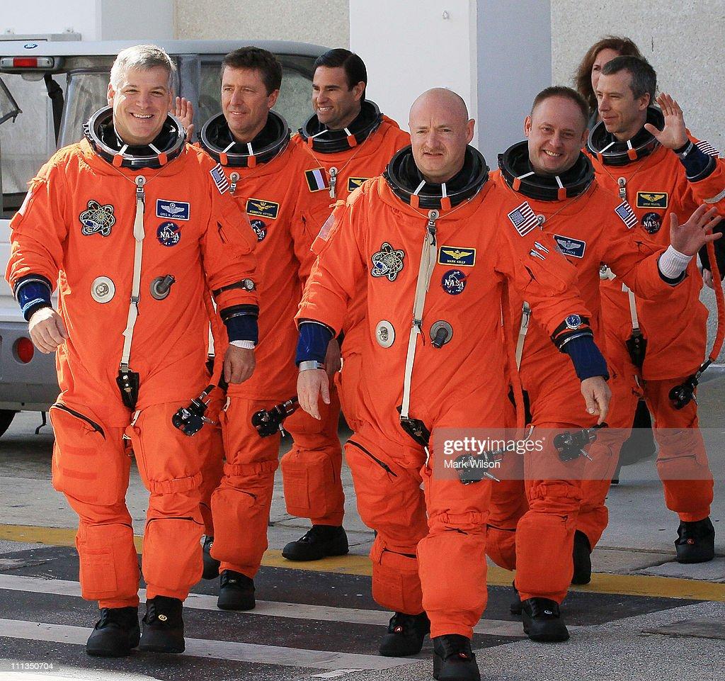 Pilot Gregory H Johnson European Space Agency astronaut Roberto Vittori Mission Specialist Greg Chamitoff Commander Mark Kelly Pilot Gregory H...