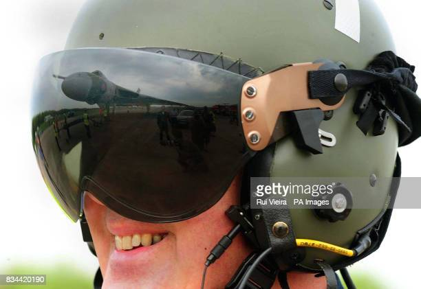 Pilot Ian Young smiles after landing a restored Vulcan XH558 which has completed her flight testing programme at Bruntingthorpe from RAF Coningsby