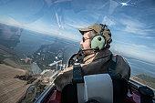 Pilot in flight