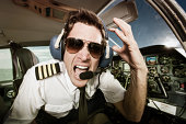 Pilot of Small Commuter Airplane Screaming