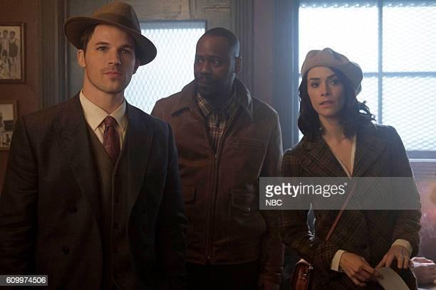 TIMELESS 'Pilot' Pictured Matt Lanter as Wyatt Logan Malcolm Barrett as Rufus Carlin Abigail Spencer as Lucy Preston