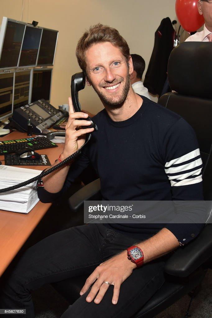 Pilot Romain Grosjean attends the Aurel BGC Charity Benefit Day 2017 on September 11, 2017 in Paris, France.