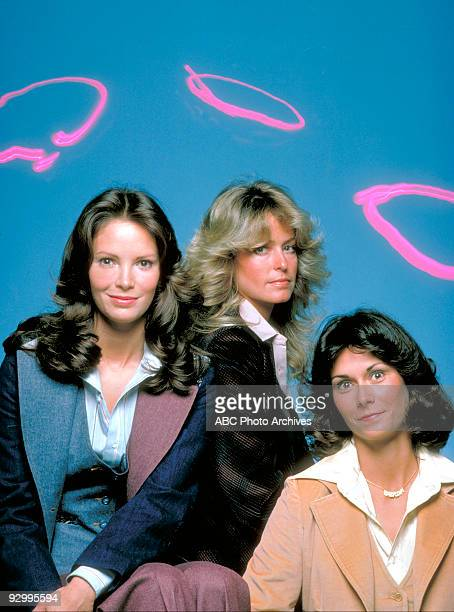 S ANGELS Pilot Season One 9/22/76 Pictured from left Jaclyn Smith Farrah FawcettMajors and Kate Jackson played undercover detectives Kelly Garrett...
