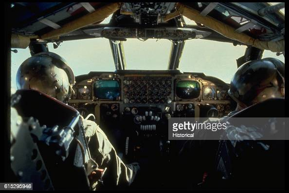 Pilots flying a B52H Stratofortress aircraft during exercise Busy Prairie II | Location in the air
