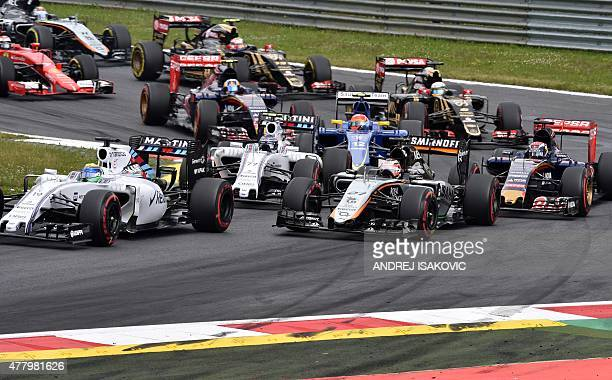 Pilots start during the Austrian Formula One Grand Prix at the Red Bull Ring racing circuit in Spielberg on June 21 2015 AFP PHOTO / ANDREJ ISAKOVIC