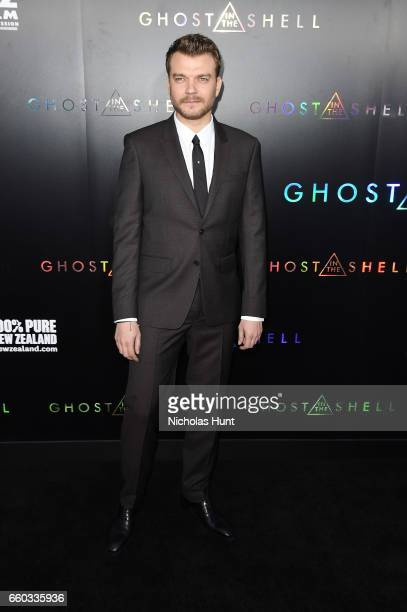 Pilou Asbæk attends the 'Ghost In The Shell' premiere hosted by Paramount Pictures DreamWorks Pictures at AMC Lincoln Square Theater on March 29 2017...