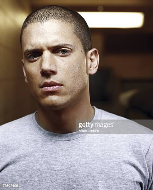 Actor Wentworth Miller poses on the set of Prison Break for Channel 5 press publicity shoot for UK only