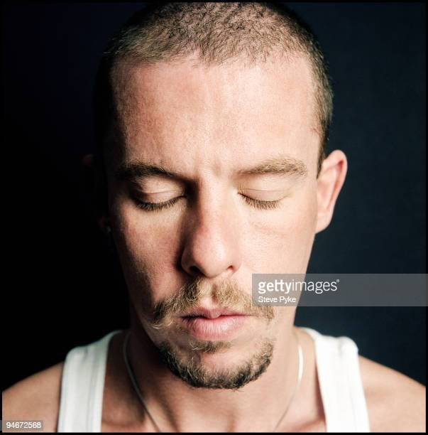 Fashion designer Alexander McQueen poses for a portrait shoot in London UK