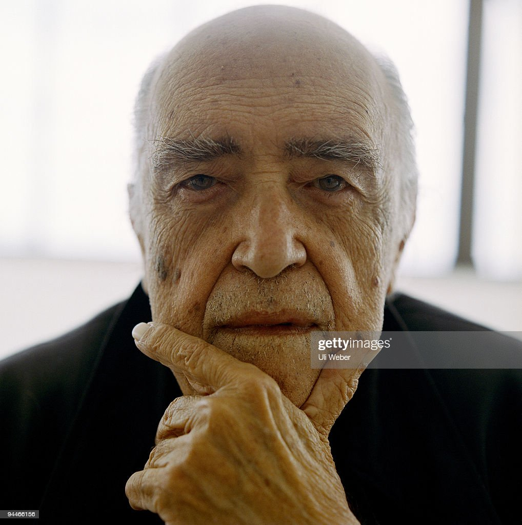 Actor <a gi-track='captionPersonalityLinkClicked' href=/galleries/search?phrase=Oscar+Niemeyer&family=editorial&specificpeople=161539 ng-click='$event.stopPropagation()'>Oscar Niemeyer</a> poses for a portrait shoot in New York.
