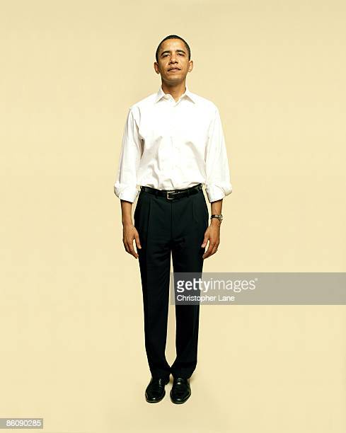 Senator Barack Obama poses for a portrait session for AARP Magazine in February 2006