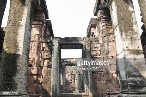 Pimai ancient city, Thailand : Stock Photo