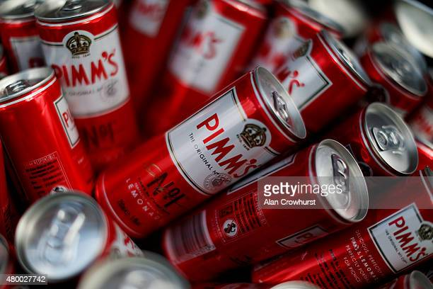 Pimms on Ladies Day at Newmarket racecourse on July 09 2015 in Newmarket England