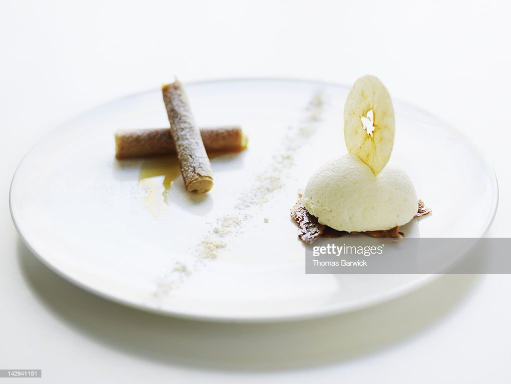 Pinata apple Bavarian pie : Stock Photo