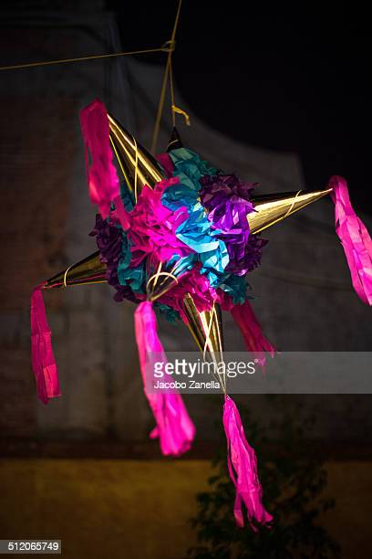 Pinata hanging from a rope