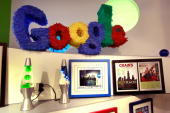 A pinatastyle logo hangs in the Google Chicago office February 23 2009 in Chicago Illinois Chicago Mayor Richard M Daley launched his YouTube channel...