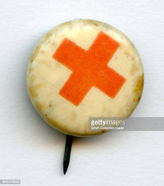 Pinback button for the American Red Cross 1945