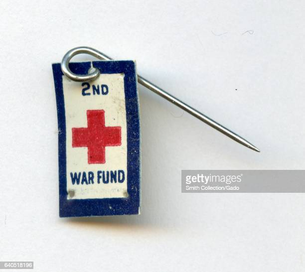 Pinback button from the American Red Cross promoting the Second War Fund a fundraising effort undertaken during World War 1 1918