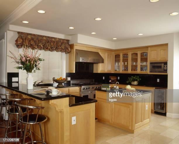 Pine Colored Kitchen