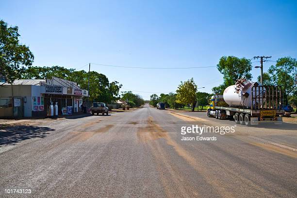 The main street and business district of a small, remote Top End town.