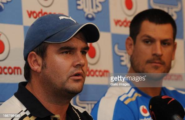 Pine Pienaar during the Vodacom Bulls training session and press conference at Loftus Versfeld on April 17 2013 in Pretoria South Africa