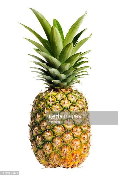 Pineapple, a Ripe, Fresh Fruit Food, Whole, Isolated on White