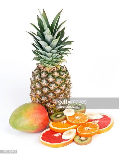 Ananas e dolce alla frutta