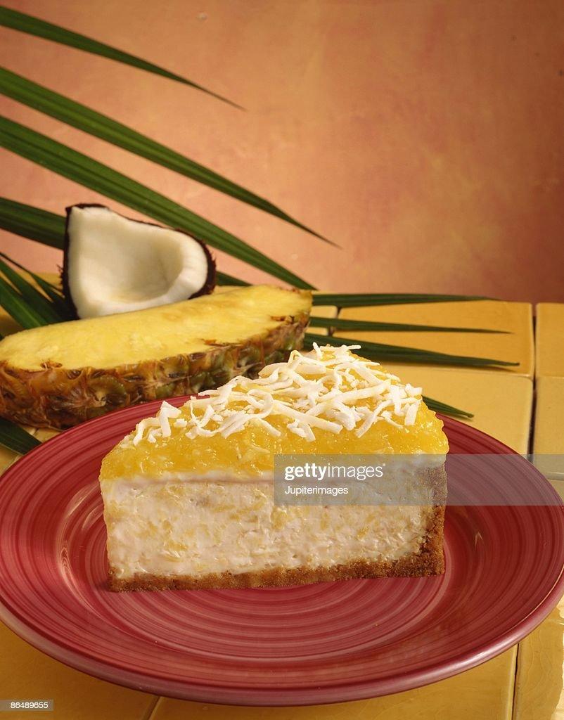 Pineapple cheesecake : Stock Photo