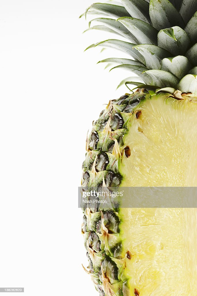 Pineapple Cut Vertical : Stock Photo
