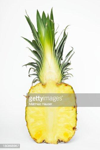 Pineapple (Ananas comosus), cut-open