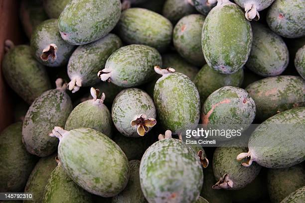 Pineapple guavas feijoas at a farmers' market