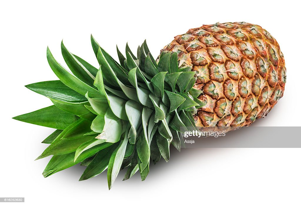 Pineapple isolated on white background with clipping path : Stock Photo