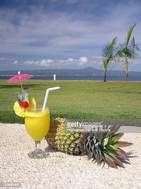 Pineapple juice and fruit