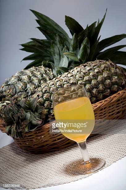 Pineapple juice with pineapples