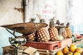 Pineapple stall, Havana, Cuba
