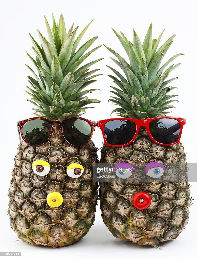 Pineapples portrait