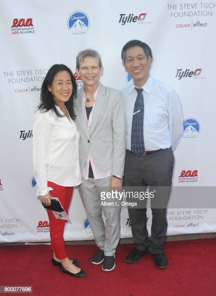 Ping Ha Heather Hinkel and Don Ha attend the Entertainment AIDS Alliance's Annual EAA Wine Wisdom Vision Event Benefiting Village Health Foundation...