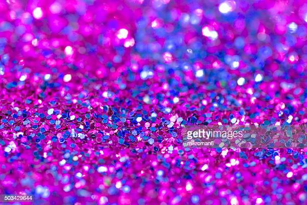 Pink and blue glitter