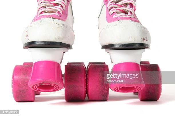 Rosa und Weiß Skates