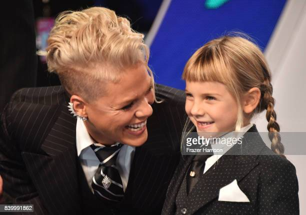 Pink and Willow Hart attend the 2017 MTV Video Music Awards at The Forum on August 27 2017 in Inglewood California