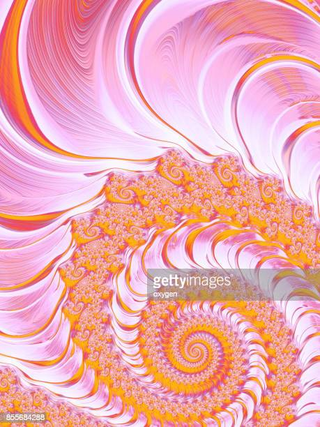 Pink and Yellow Spiral Abstract fractal pattern