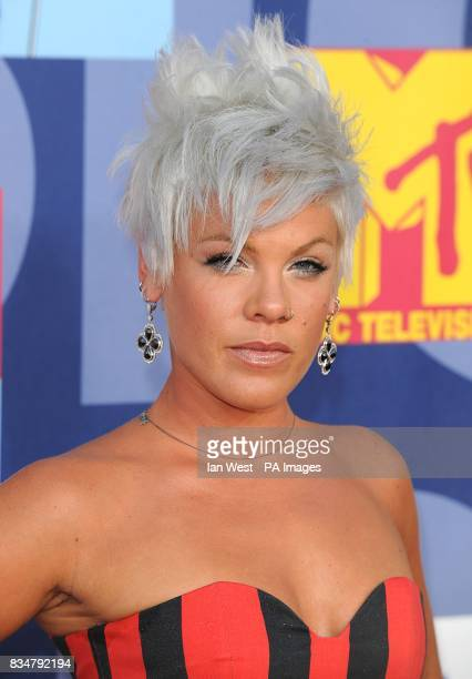 Pink arrives for the MTV Video Music Awards 2008 at Paramount Studios Hollywood Los Angeles California