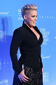 Pink attends 2015 UNICEF Snowflake Ball at Cipriani Wall Street on December 1 2015 in New York City