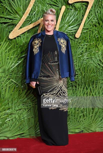 Pink attends The Fashion Awards 2017 in partnership with Swarovski at Royal Albert Hall on December 4 2017 in London England