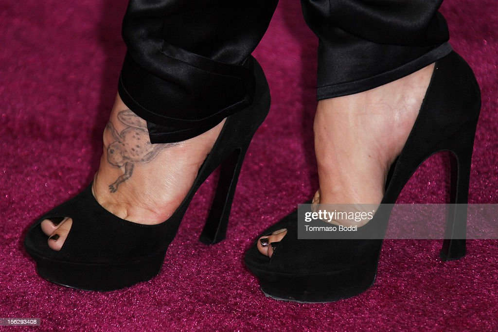 Pink (shoes detail) attends the St. John's Health Center's Power Of Pink benefiting the Margie Petersen breast center held at the Sony Studios on November 12, 2012 in Los Angeles, California.