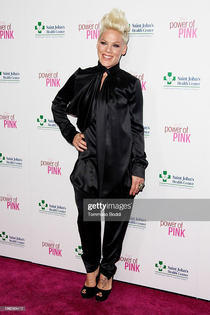 Pink attends the St. John's Health Center's Power Of Pink benefiting the Margie Petersen breast center held at the Sony Studios on November 12, 2012 in Los Angeles, California.