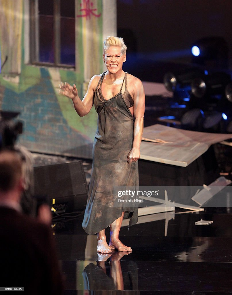 Pink attends 'Wetten dass..?' From Freiburg on December 8, 2012 in Freiburg im Breisgau, Germany.